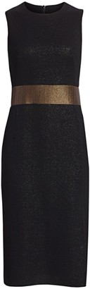 Akris Sleeveless Lurex Sheath Dress
