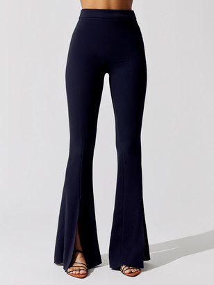 Cushnie High Waisted Slim Flare Pant With Slits