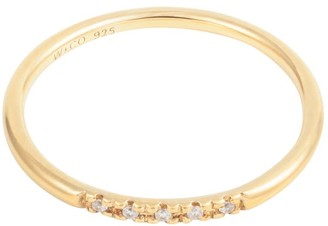 Wanderlust + Co Pave Topaz Gold Sterling Silver Ring
