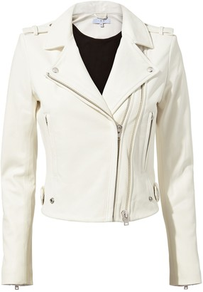 IRO Dylan Cropped Leather Moto Jacket