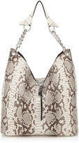 Jimmy Choo RAVEN Natural Matt Python Shoulder Bag
