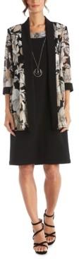 R & M Richards 2-Pc. Printed Jacket & Dress Set