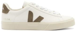 Veja Campo Leather Trainers - Khaki White