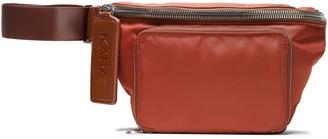 Kara Leather-trimmed Shell Belt Bag