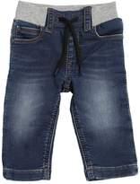 HUGO BOSS Denim Effect Cotton Blend Sweatpants
