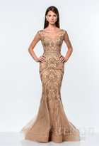 Terani Evening - Beads and Jewel Detailed Mermaid Gown 151GL0425A