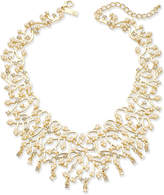"""INC International Concepts I.n.c. Rose Gold-Tone Pearl & Crystal Vine Statement Necklace, 16"""" + 3"""" extender, Created for Macy's"""