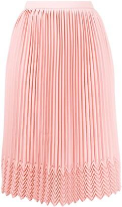 Marco De Vincenzo Chevron Detail Pleated Skirt