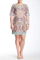 Sandra Darren Printed Dress (Plus Size)