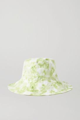 Faithfull The Brand Net Sustain Bettina Tie-dyed Linen Sunhat - Lime green
