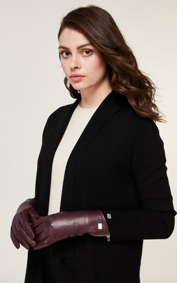 Soia & Kyo MEENA cuffed leather gloves with tech-friendly tips
