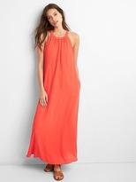 Drapey halter maxi dress