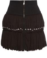 Isabel Marant Roscoe zip-front cotton-crepe skirt
