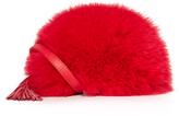 Loeffler Randall Cross Body Pouch with Fur