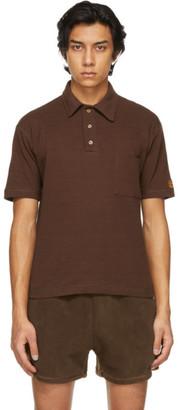Phlemuns Brown Shirred Polo