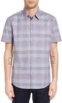 John Varvatos Men's Collection Slim Fit Plaid Sport Shirt