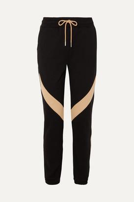 Ninety Percent Striped Organic Cotton-jersey Track Pants - Black