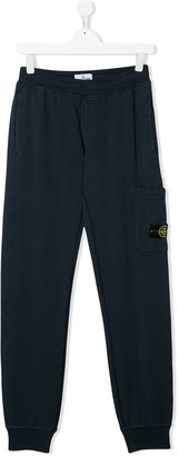 Stone Island Junior straight fit patch pocket sweat pants