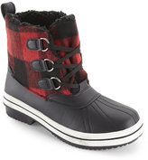 Madden-Girl Black & Red Chill Sherpa-Lined Duck Boots