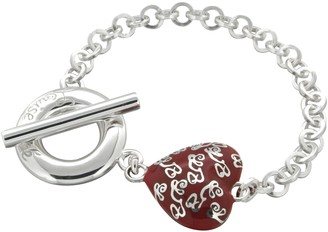 Louise Zoé Louise Zoe Bracelet with Heart Design Sterling Silver-Plated Brass - 4LZ0275R 19 cm
