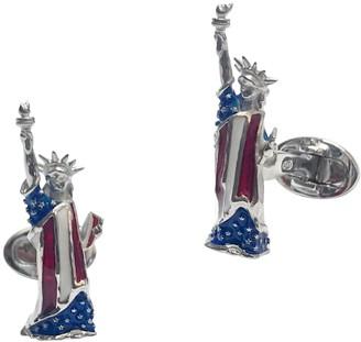Jan Leslie Sterling Silver Statue of Liberty Cufflinks