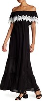 Romeo & Juliet Couture Crochet Ruffle Off-the-Shoulder Maxi Dress