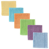 Luvable Friends Yellow & Blue Washcloth - Set of Six