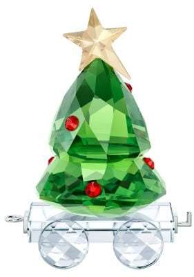 Swarovski Christmas Tree Wagon Crystal Figurine