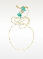 Rada' Radà Bead and Crystal Long Necklace