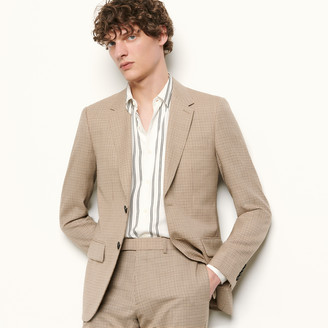 Sandro Micro check suit jacket