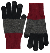 George Striped Touch Screen Knitted Gloves