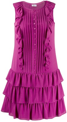 Liu Jo Ruffle Tiered Mini Dress