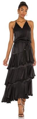 Karina Grimaldi Cassandra Solid Maxi Dress