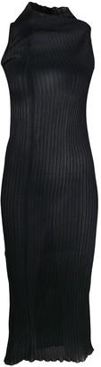Jil Sander Sheer High-Neck Midi Dress