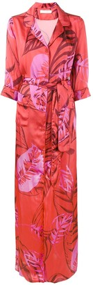 Borgo de Nor Maria palm print maxi dress