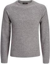 Loop Back Knit Sweater In Slate Grey