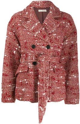 Ulla Johnson Dillon belted tweed jacket