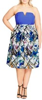 City Chic Plus Size Women's Orchid Floral Skirt