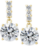 Giani Bernini Cubic Zirconia Drop Earrings in 18k Gold-Plated Sterling Silver, Only at Macy's