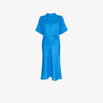 Carcel High neck silk dress