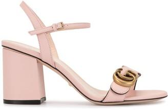 Gucci Marmont 70mm block heel sandals