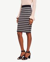Ann Taylor Checkered Jacquard Pencil Skirt