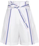 Edun Pleated cotton shorts