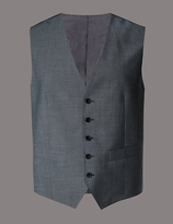 Autograph Grey Tailored Fit Wool Waistcoat