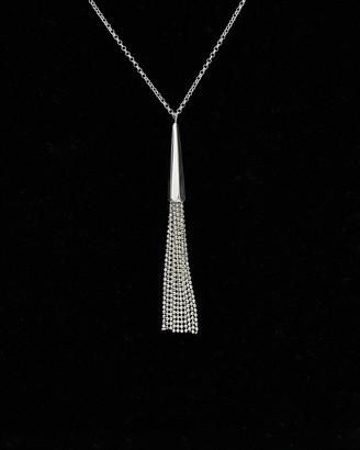 Italian Silver Tassel Necklace