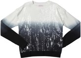 Design History Dip Dye Cropped Top (Kid)-Black/White-X-Large