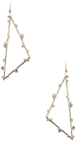 Alexis Bittar Elements Satellite Crystal Angled Wire Statement Earrings