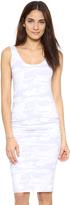Monrow Neutral Camo Shirred Dress