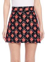Milly Diamond Jacquard A-Line Skirt