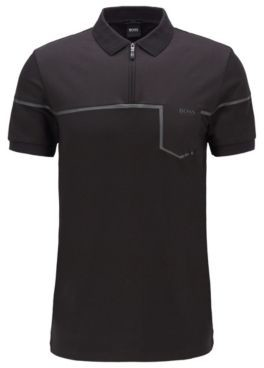 Slim-fit polo shirt in cotton with S.Caf